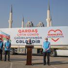 """""""Yükü kardeşlik olan tırlarımız, inşallah selametle Azerbaycan'a ulaşacaktır"""""""