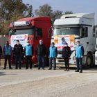 Barış Pınarı Harekatı bölgesine Türkiye'den 7 tır un yardımı