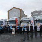 Kayseri'den Suriye'deki ihtiyaç sahiplerine 5 tır patates ve giyim gönderildi