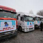 Aksaray'dan Suriye'ye 14 tır yardım malzemesi gönderildi