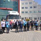 Balıkesir'den savaş mağduru ailelere 10 tır un gönderildi