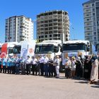 Kayseri'den Suriye'deki ihtiyaç sahiplerine 5 tır un, 2 tır patates gönderildi
