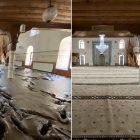 Bozkurt'taki selin ardından balçıktan temizlenen 113 yıllık cami yeni haliyle görüntülendi